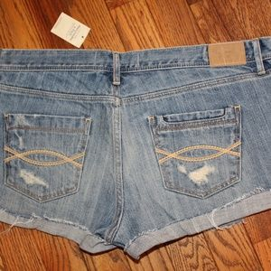 Abercrombie & Fitch Denim Jean Shorts Size 8